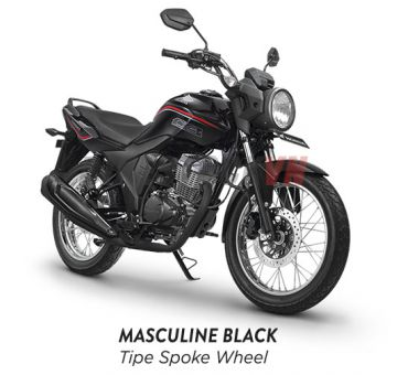 HONDA CB150 VERZA 2018 MASCULINE BLACK TIPE SPOKE WHEEL