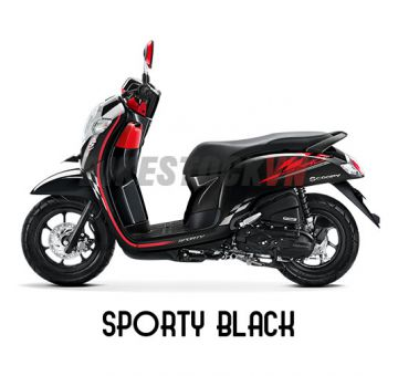 HONDA SCOOPY110 2018 SPORTY BLACK
