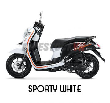 HONDA SCOOPY110 2018 SPORTY WHITE