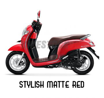 HONDA SCOOPY110 2018 STYLISH MATTE RED