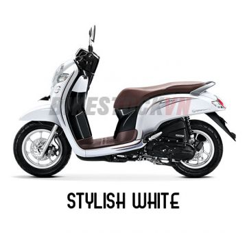 HONDA SCOOPY110 2018 STYLISH WHITE